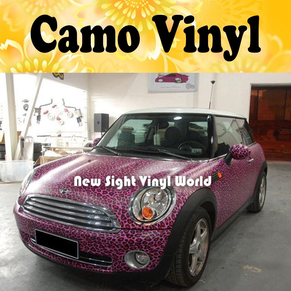 Pink Leopard Camo Sticker Bomb Roll Leopard Camouflage Car Wrapping Vinyl Size:1.50*30m/Roll leopard camo car wrap sticker bomb vinyl leopard camouflage vinyl sticker size 1 50 30m roll