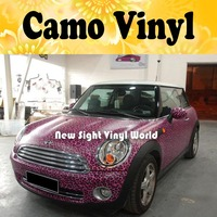 Pink Leopard Camo Sticker Bomb Roll Leopard Camouflage Car Wrapping Vinyl Size:1.50*30m/Roll