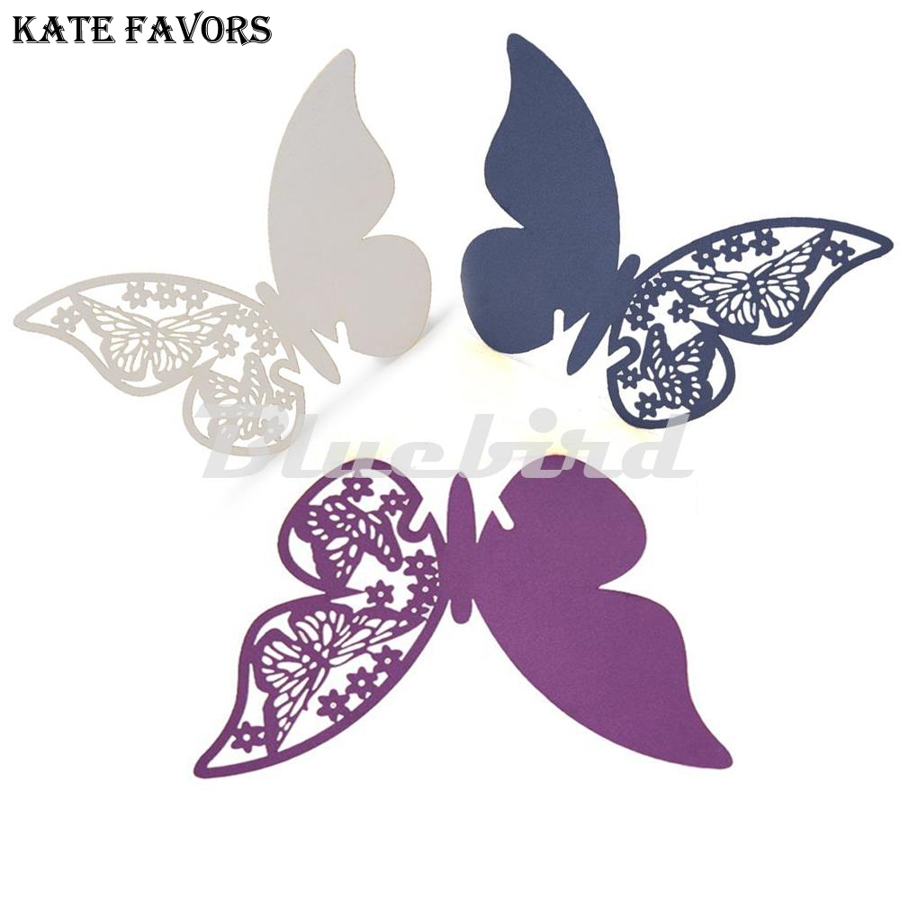 Wedding Table Decoration Butterfly Laser Cut Place Cards Birthday Party Table Centerpieces Festive Events Supplies