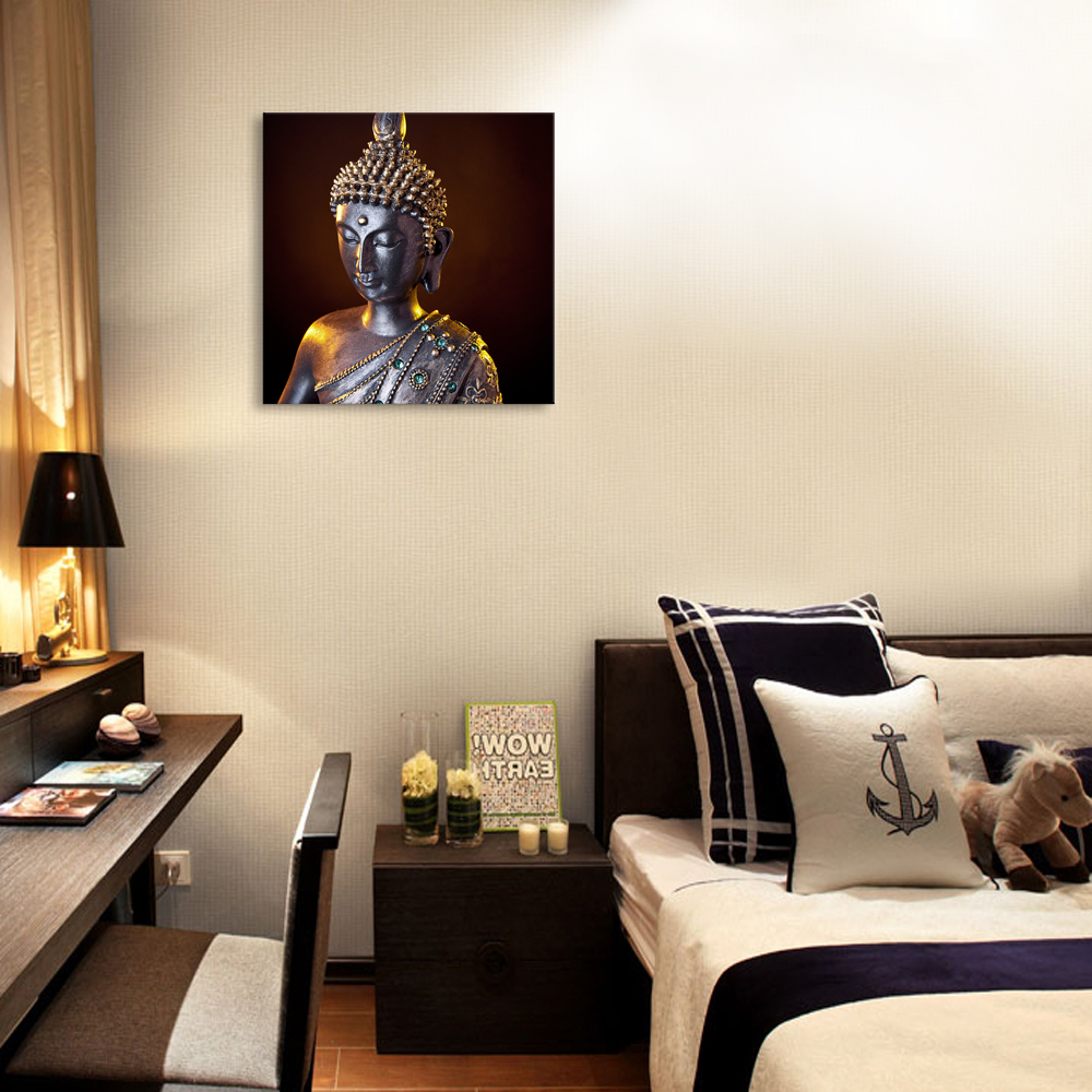 1 Panel HD Printing Buddha Painting Religion Oil Painting Canvas ...