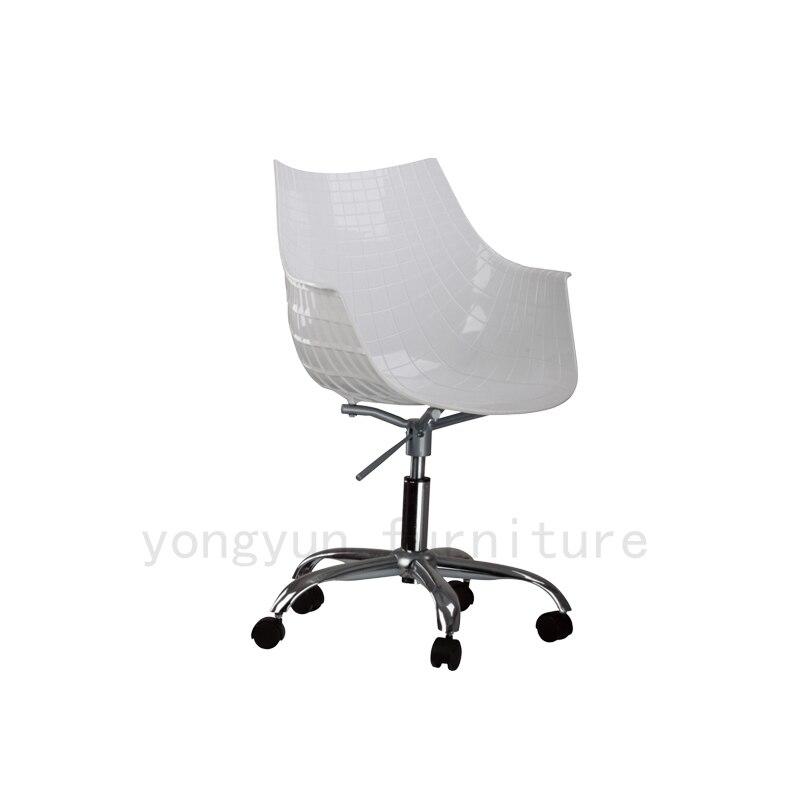 Sedie Da Ufficio Plastica.Design Moderno In Plastica E Acciaio Girevole Per Ufficio Sedia