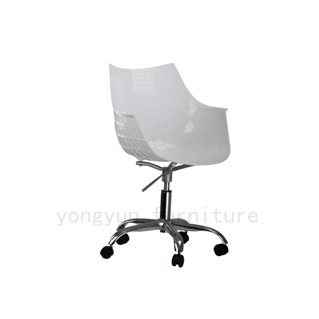 Modern Design Plastic And Steel Swivel Office Computer Chair With 5 Wheel  Plastic Shell Office Chair