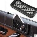 Acessórios grande saco de rede de armazenamento titular do cartão chave de telefone para iphone 6 bolso organizador do assento do lado do carro