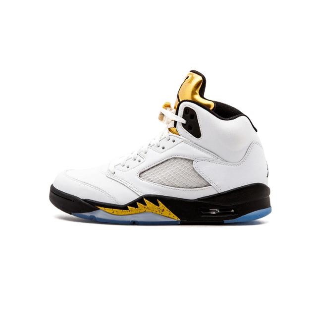 new arrivals 1e4b7 a6d1d KFJ AIR US JORDAN Retro 5 Men Basketball Shoes Black Metallic Man Sneaker  Sport Shoes Discount Sneaker Hot Sale Blue Footwear