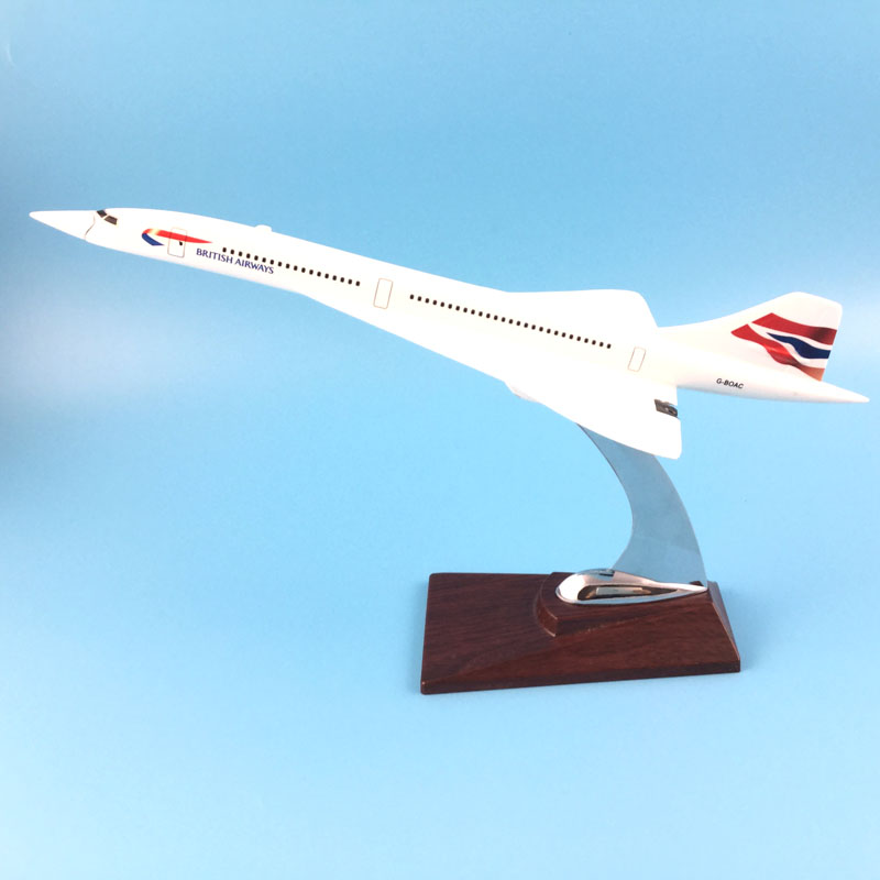 31CM BRITISH AIRWAYS CONCORDE Alloy Metal Aeroplane Models Plane Models W Stand Toy Collections Gift Free EMS/DHL shipping