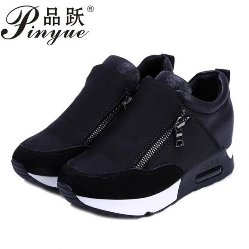 d9dabf15c Las Deporte Otoño Negro 2018 Mujer Fondo Grueso Zapatos 35 Moda Estudiantes  Deportes rojo Negro Señoras Plataforma De Primavera Los Zapatillas Cuñas Y  ...