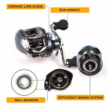 Low Profile Baitcasting Reel Right or Left  17+1BB 7.0:1 High Speed 5kg Super Powerful Drag 6-Level Centrifugal Braking System