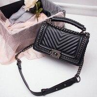 2018 Bags Handbags Women Famous Brand Female High Quality Pu Leather Chain Shoulder Bag Black Ladies Small Handbag Crossbody Bag