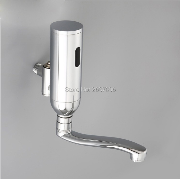 Free shipping Hospital Infrared Tap wall sensor faucet hotel bathroom sensor mixer tap basin sensor faucet ZR6408 free shipping in wall installing sensor water faucet with deck mounted hotel bathroom sensor mixer tap basin sensor faucet