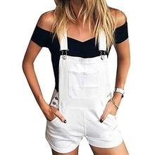 Модные джинсовые комбинезоны для женщин, комбинезон для женщин, джинсовые пляжные женские комбинезоны, Комбинезоны на лямках, шорты, летние комбинезоны
