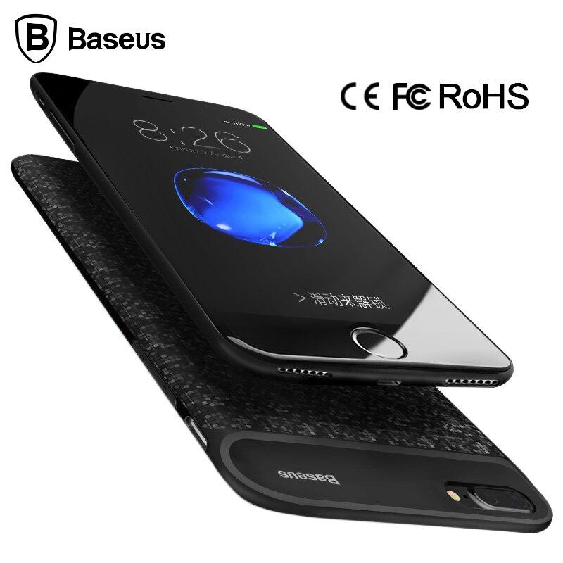 imágenes para De Baseus Caso Del Cargador de Batería Para el iphone 6 6 s 2500/5000 mAh Batería Externa Caso de La Energía Bank funda Para el iphone 7/7 Más