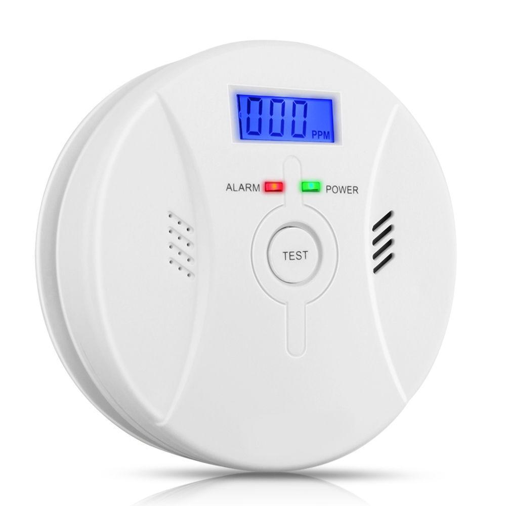 Alta sensibilidad digital LCD co monóxido de carbono envenenamiento detector alarma de incendio el humo advertencia sensor seguridad para el hogar Seguridad