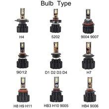 50W 6800LM Auto Car Led Headlight D2S H7 9012 5202 H16 D1S D3S D4S D4R D3R D2R D1R H8 H9 H11 HB3 H10 9005 HB4 LED Lamps,led d2s