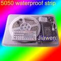 5 M SMD5050 RGB Impermeável 300 LED Strip Light + 44Key IR Remote Controller + adaptador De Alimentação 12 V 6A frete Grátis