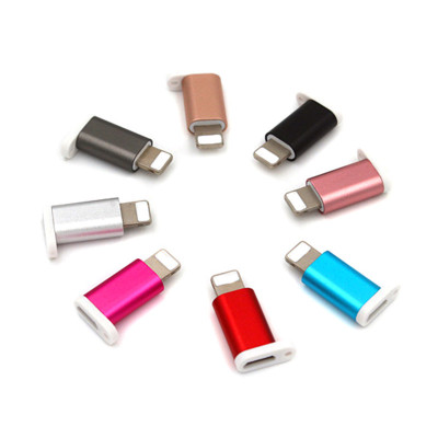 Light Converter For Lightning Convert to Micro USB Adapter for iphone 5s se 6 6s 7plus ipad support charging ...