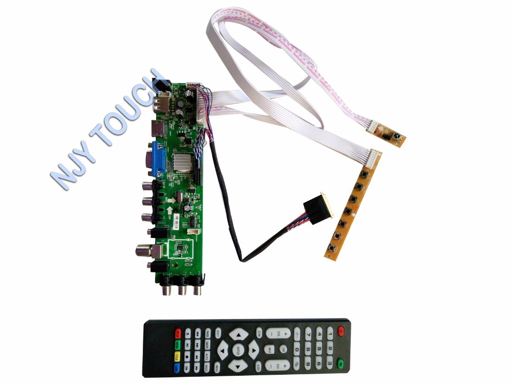 Z.VST.3463 DVB-C DVB-T DVB-T2 LCD Controller Board kit For B116XW02 V.0 1366x768 Panel original dvb t satlink ws 6990 terrestrial finder 1 route dvb t modulator av hdmi ws 6990 satlink 6990 digital meter finder