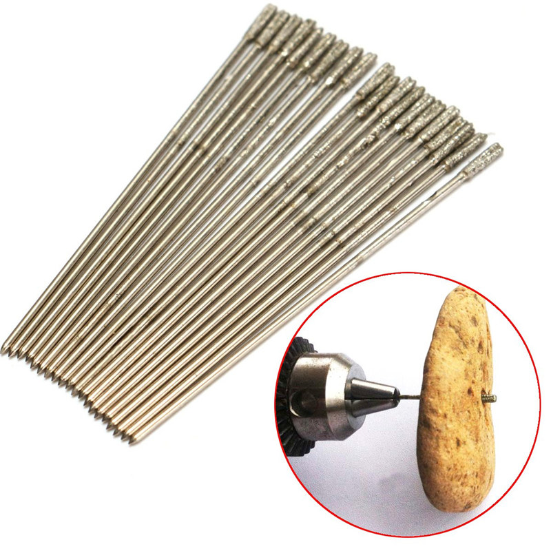 цены Top Selling 20pcs 1mm Drill Bits Diamond Drill Hole Diamond Hole Drilling For Jewelry Agate Newest Hot Sale