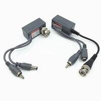10 pcs (5 Paires) chaude UTP CCTV BNC vidéo Balun puissance Passive Balun Rj45, POE Power Video Audio 3 en 1 Émetteurs-récepteurs CCTV pièces de rechange