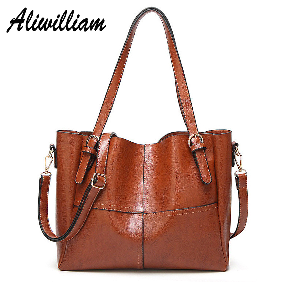 2017 Fashion Luxury Leather Handbags Women Bag Large Capacity Ladies Shoulder Bag Casual Tote Bags Female Famous Brands Handbags genuine leather bucket bag fashion famous brands luxury women real leather casual handbags large capacity shoulder bags 2017 new