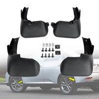 4xFront Achter Spatlappen Splash Guards Spatbord voor Lexus-Rx Rx270 Rx350 Rx450 2009-15 Plastic Front 24x32x13.3cm Achter 25x32x10.9cm