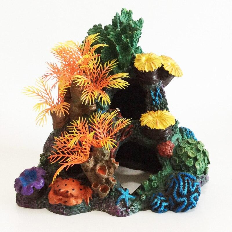 Résine artificielle corail beau ornement pour la décoration d'aquarium de réservoir de poissons marins