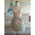 Green Floral Half Wa...