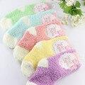 5 pairs = 1 лот зимой, чтобы согреться коралловый флис Мода состоянии сладкий конфеты цвета детские носки для 0-2 лет baby boy/девушки носки