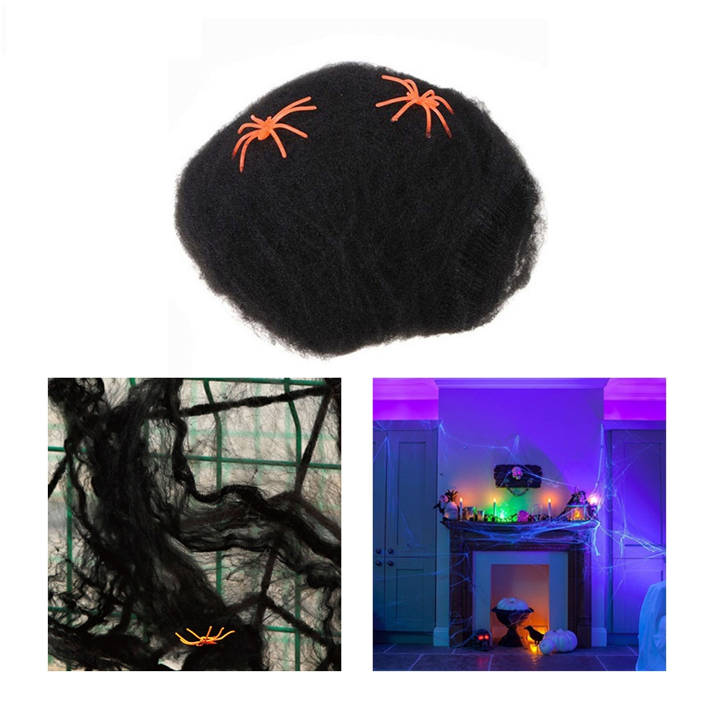 2018 Halloween Spider Web Props Scary Party Simulation Spiderweb for Bar Haunted House Educational Cleaning Toys for Kids Adults