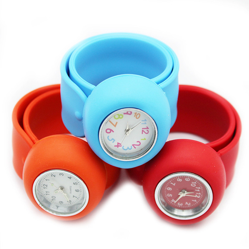 Watch Factory Direct New Cartoon Silicone Patted Watch Children's  Ring Bracelet Can Be Mixed Batch Custom Logo