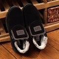 Más el tamaño 39-47 invierno hombre botas de tela de algodón del padre de beijing zapatos de piel espesa nieve botas cremalleras resbalón en los hombres de invierno zapatos