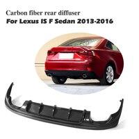 Углеродного волокна задний диффузор спойлер для Lexus IS F Sport Sedan IS200t IS300 2013 2014 2015 2016