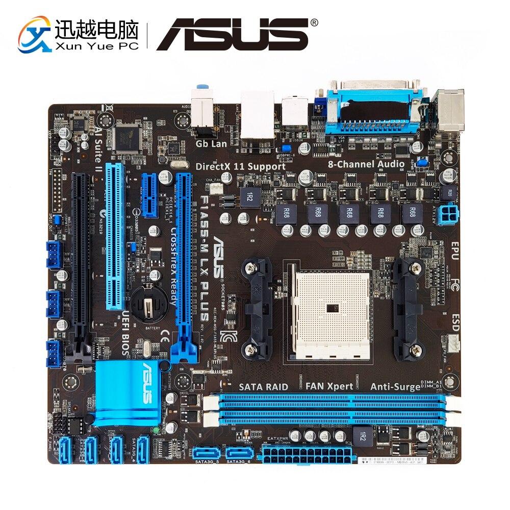 Asus F1A55-M LX PLUS Desktop Motherboard A55 Socket FM1 DDR3 32G SATA2 USB2.0 VGA uATX free shipping original motherboard for f1a55 v plus ddr3 socket fm1 all solid desktop motherboard mainboard