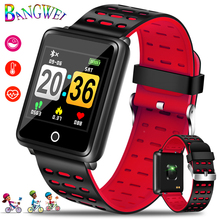BANGWEI Smart Sport Bracelet Waterproof Watch Big screen Blood Pressure Heart Rate Monitor Pedometer Fitness smart Wristband+Box