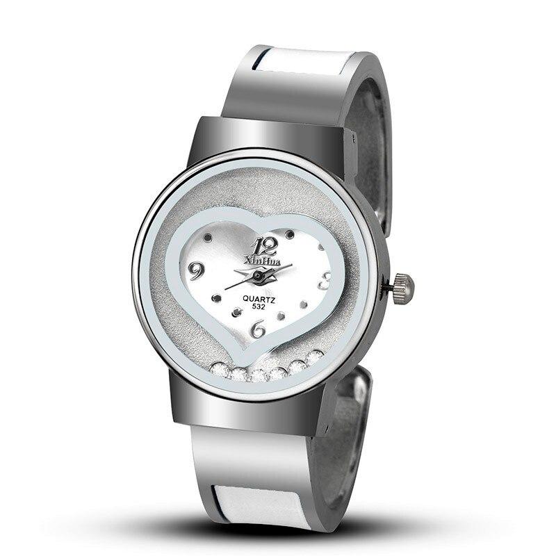 Women Watches Fashion Luxury Watches Women Crystal Stainless Steel Bracelet Bangle Wristwatch Female Clock montre femme saat