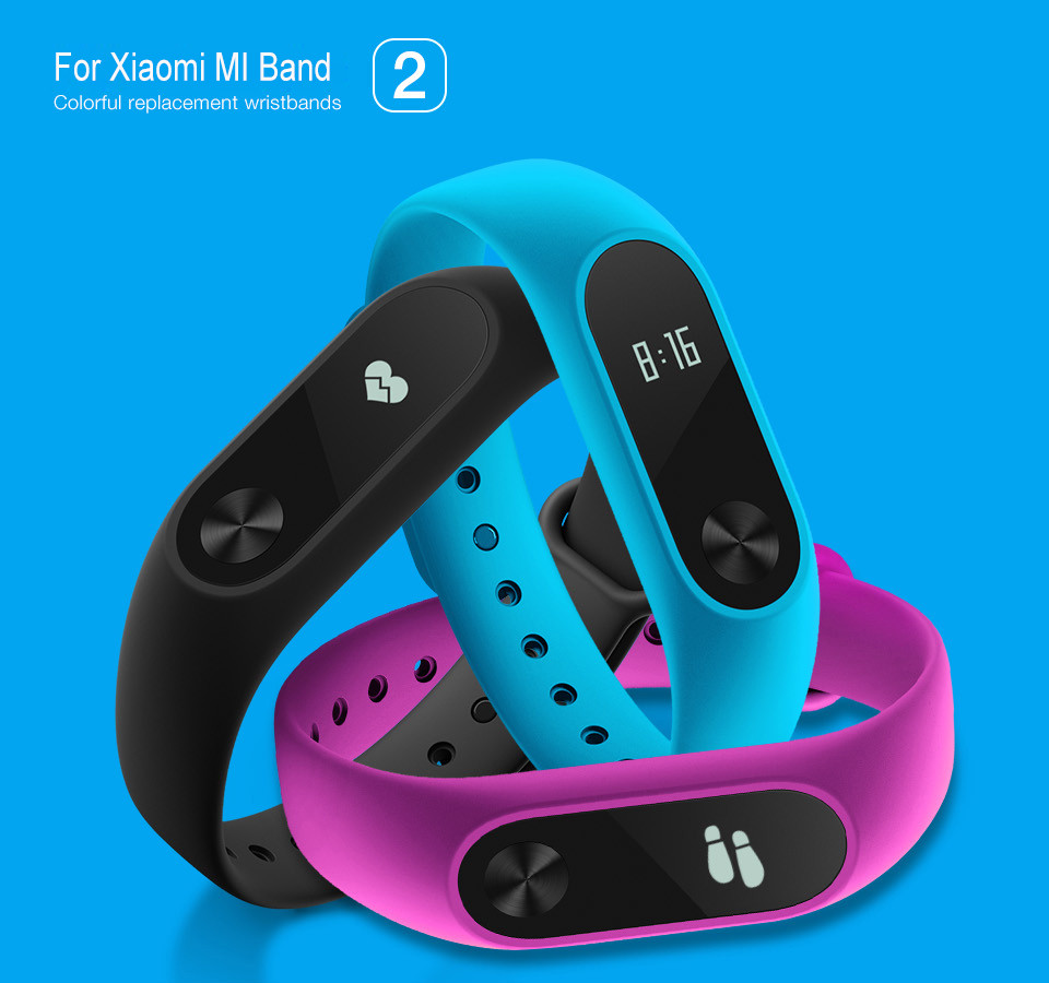 Teyo Colorful Wristband For Xiaomi Mi Band 2 Smart Accessories Replacement Silicon Strap For Xiaomi MiBand 2 Durable Anti Lost 3