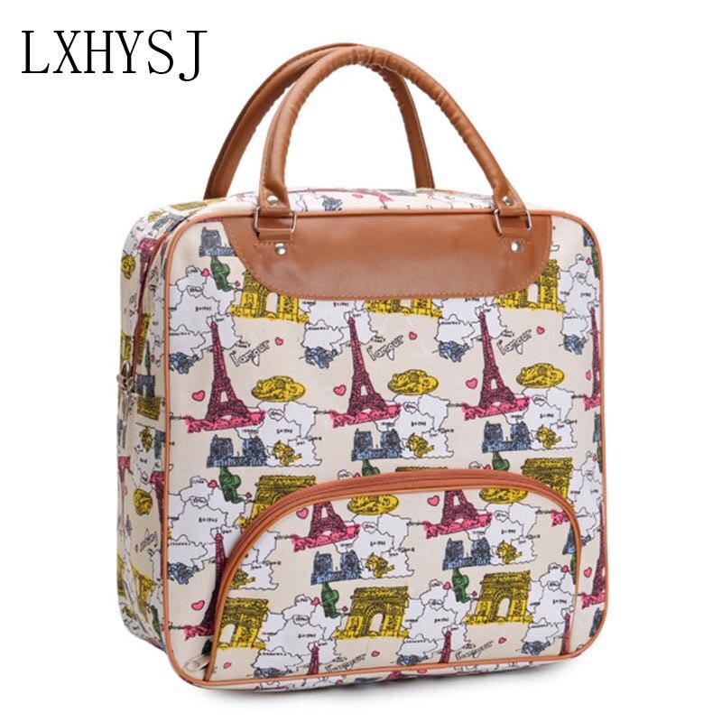 Women Travel Bag Travel Duffle Large Capacity Luggage Bags Waterproof Canvas Handbag Multifunction Weekend Package Travel Totes