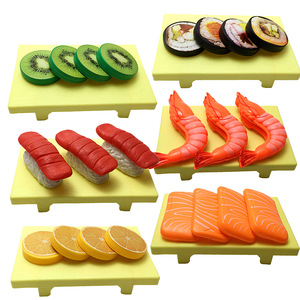 Children Kitchen Cutting Toys Sushi, Fish, Beef, Shrimp Pretend Play Plastic Miniature Food Girls Kids Education Toy Gift