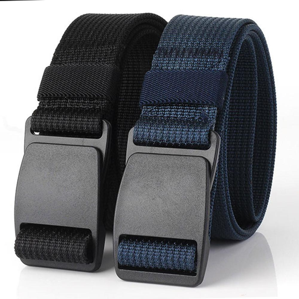 CUKUP Anti Allergy Waistband Belts without Metal Security Nylon Outdoor Thickening Plastic Buckle Male Casual Belt 3 8cm CBCK073 in Men 39 s Belts from Apparel Accessories