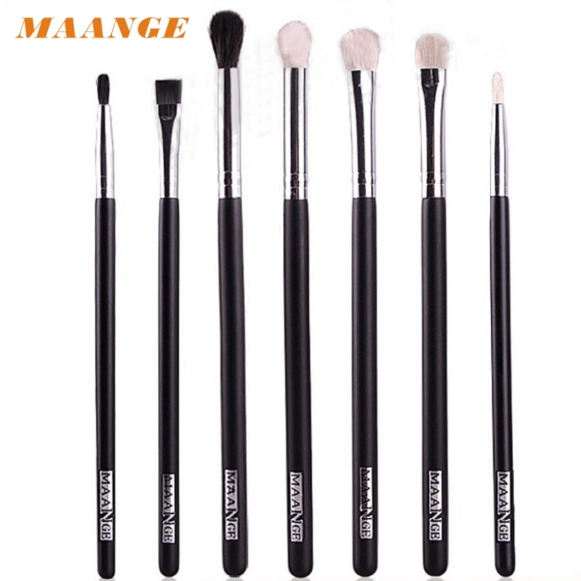 7PCS Set Makeup brushes Blend Shadow Angled Eyeliner Smoked Bloom Eye Brushes Set Comestic Brushes jan18