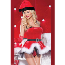 Feel The New Year Sexy Christmas Party Wear Sexy Girls Christmas Dress Xmas Santa's Special Helper Chemise Lingerie Costume