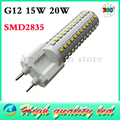 Newest AC 110-130V 220-240V G12 SMD2835 chip dimmable 15W 20W High Power led corn bulb,Cold White/ warm white led spotlight lamp
