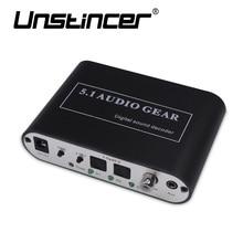UNSTINCER Digitale 5,1 Audio Getriebe Decode Dolby Dts/ac-3 Optical 5,1-Kanal RCA Analog Sound Spdif Decoder Stereo