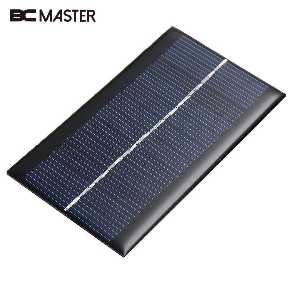 BCMaster New Mini 6V 1W Solar Panel Solar Module DIY For Battery Cell Phone Chargers Portable Professional Travelling Solar Cell