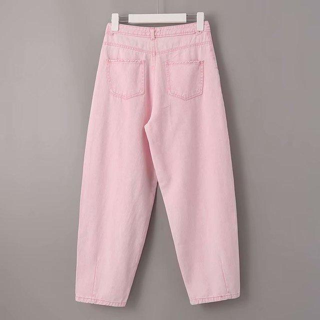 Toppies Woman Baggy Jeans Pink Harem Pants Loose Trousers 2021 Summer Women Leisure Pants Korean style Streetwear Wide Cut 4