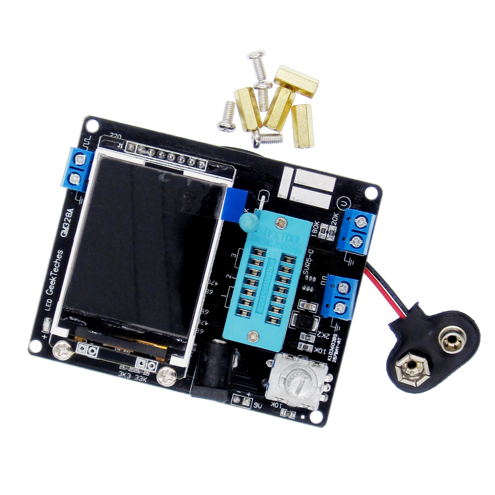 LCD GM328A Transistor Tester Diode Capacitance ESR Voltage Frequency Meter PWM Square Wave Signal Generator SMT So