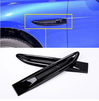 Piano Black Car Side Fender Cover Trim 3D Sticker For Jaguar XE F Pace XF/XFL 2016 f pace Car Styling Accessories