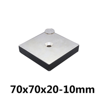 1 pcs 70 x 70 x 20 mm Hole: 10mm Super Strong N35 Ring Magnets Craft Powerful Rare Earth Neodymium Magnet