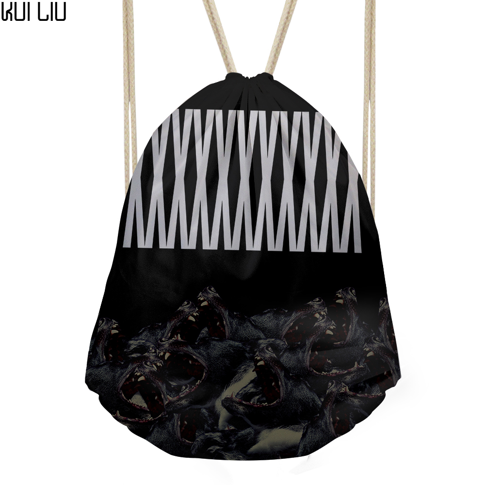 Men's Small Drawstring Bag Kids Cool Backpack Custom Logo For Teenager Vintage Beach Pouch Fashion Coulisse Borsa