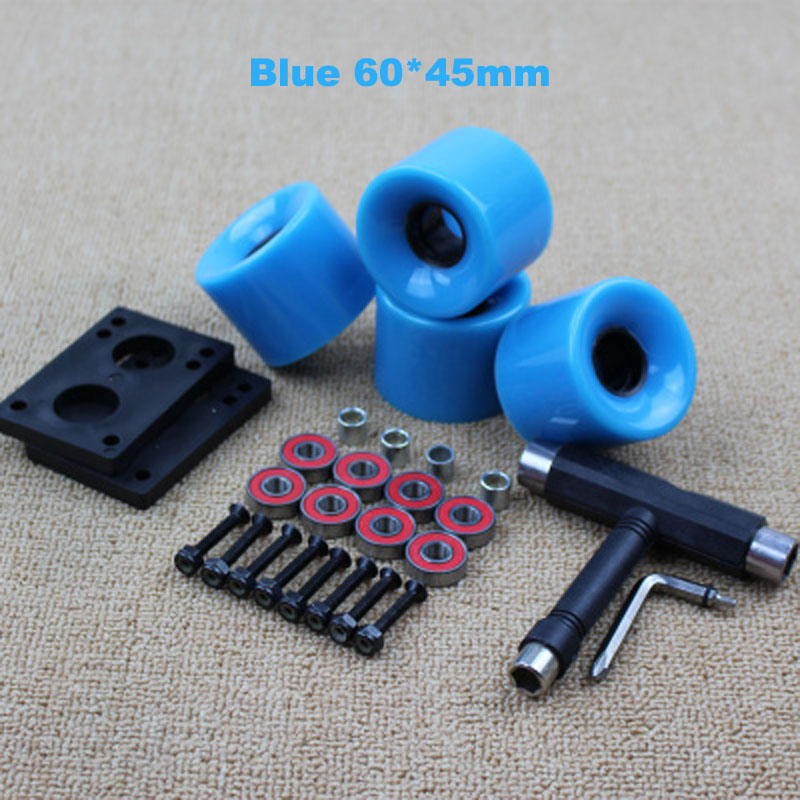 Image 3 - Skateboard Wheels 78A 4pcs 60*45mm Longboard Wheels 72*44mm Street Brush Wheels Double Warping Board Replace Wheels Colorful-in Scooter Parts & Accessories from Sports & Entertainment