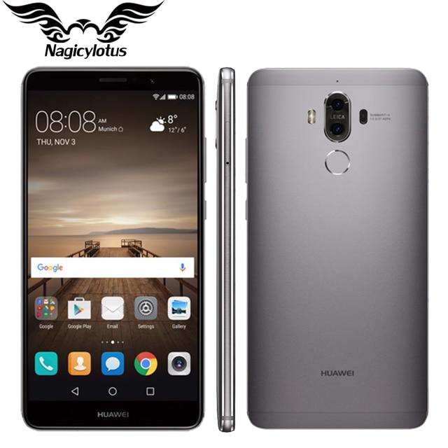 "Оригинал Huawei Mate 9 Mate9 4 г LTE Octa core 4 ГБ Оперативная память 32 ГБ Встроенная память 5.9 ""HD Android 7.0 отпечатков пальцев ID 20MP + 12MP Камера мобильного телефона"